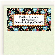 Shop Border Address Labels at Current Catalog