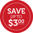 Save UP TO $3