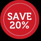 Save 20%