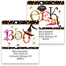 halloween labels cards - Halloween Catalog Request