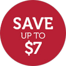 Save UP TO $7